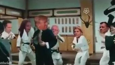 President Donald Trump alone better than Bruce Lee one versus many