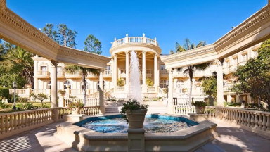 Chateau D'or in Bel Air the Most Extravagant and Grotesque mansion estate in Bel Air Los Angeles California 90077